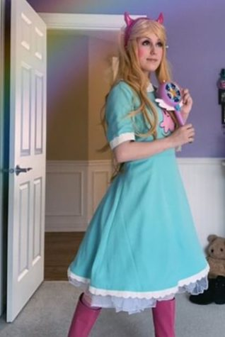 Erin Millhouse has been involved in cosplay since 7th grade. She is seen here dressed as Star Butterfly, a character from a Disney Cartoon, Star vs the Forces of Evil. Photo Courtesy of Erin Millhouse.