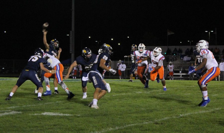The+Neuqua+Valley+varsity+football+team+played+versus+East+St.+Louis.+Neuqua+Valley+lost+with+the+score+of+48-50.