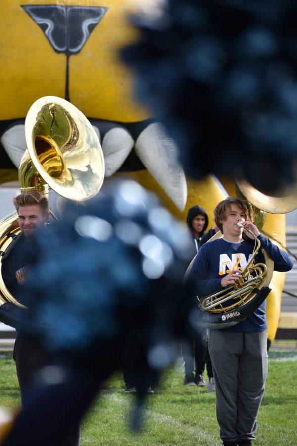 Trumpets and pom-poms