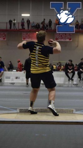 Photo of Yale commit Matt Appel participating in shot put event.