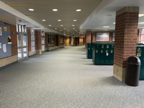 The hallways of Neuqua Valley where the students