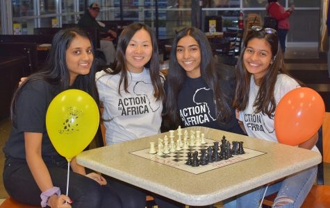 Pictured from left to right: Ankita Sundaram, Jade Huang, Ritu Meda and Somya Katiyar. They are at their first Oberweis fundraiser of the year where they raised $200. Though it was not required of them to stay for the duration of the fundraiser, the girls spent three hours at the business supporting AIA.
