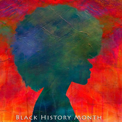 Silhouette of an African American woman to celebrate Black History Month