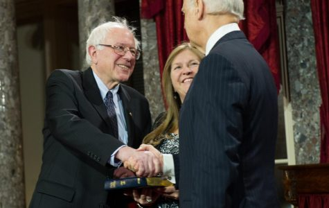 Senator Sanders and Vice President Biden meeting in the Senate back in 2013