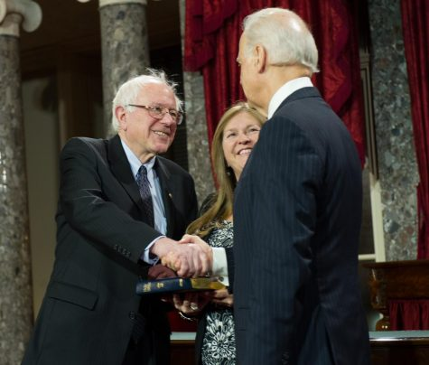 Senator Sanders and Vice President Biden meeting in the Senate back in 2013