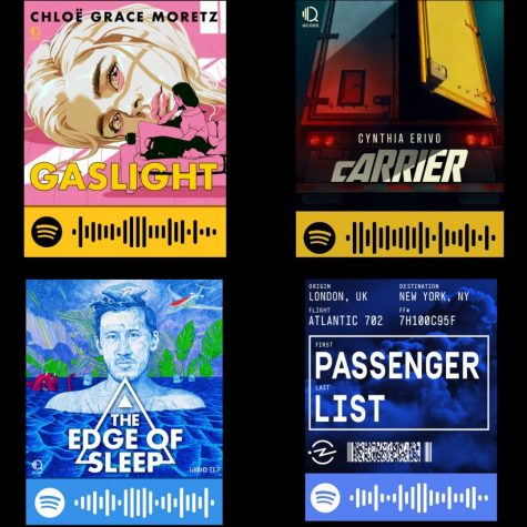 Scan these QR codes using your camera on your Spotify search bar, it will instantly bring you to the podcasts.