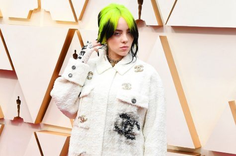 Billie Eilish at the Oscars, wearing an outfit designed by Chanel