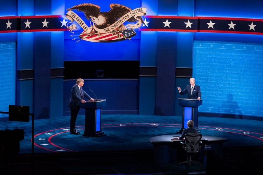 President Donald Trump and former Vice President Joe Biden at their first presidential debate.