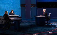 Kamala Harris and Mike Pence at the debate