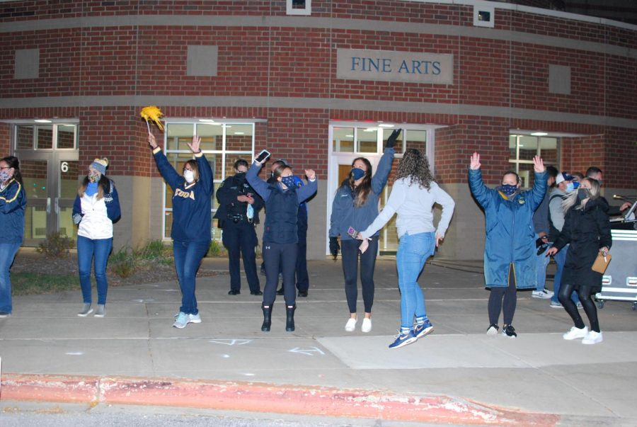 """""""We had a lot of fun, I hope the seniors had fun too. It kinda felt like a football Friday night!... I was glad to be back at the school with students."""" -Denise Alder and Julie Many, staff at Neuqua Valley High School"""