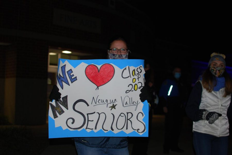 Many teachers showed up in the cold and dark to cheer on their students for their final year of high school.