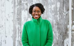 Representative Lauren Underwood photographed on a day where she planned her campaign reelection.