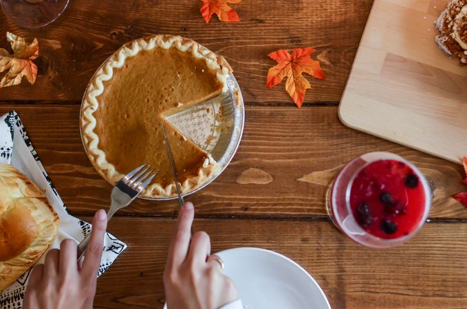 October 12th is Pumpkin Pie Day in America. Pumpkin Pie was created in 1621 when Early American Settlers at Plimoth Plantation carved out Pumpkins, filled them with milk, honey, and spices, and heated them in hot ashes.