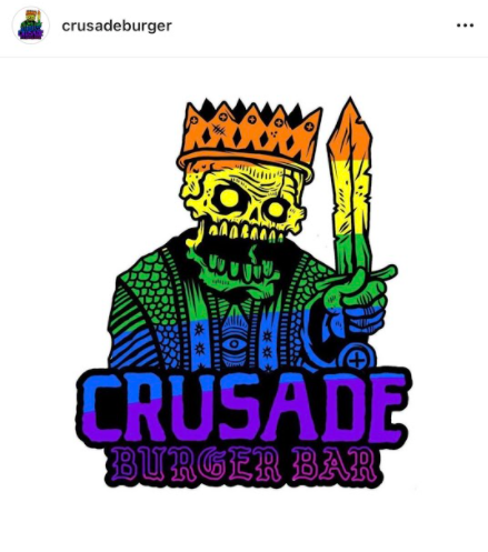 Crusade Burger Bar, located at 209 S Bridge St. Yorkville, IL 60560, provides customers with unique burgers, delicious sides, boozy cocktails and gigantic freakshakes. Picture of Crusade Burger Bars official logo taken by Photographer Jen Bowman.