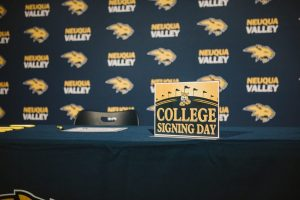 Neuqua Valley organized a panel for the students to sit and sign their National Letters of Intent.