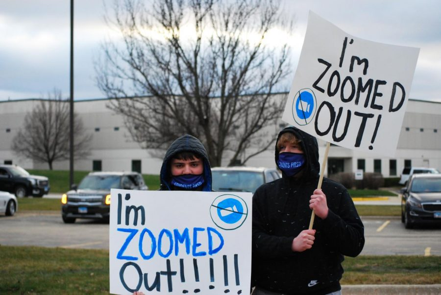 Two Waubonsie Valley students were among many other students who attended the rally