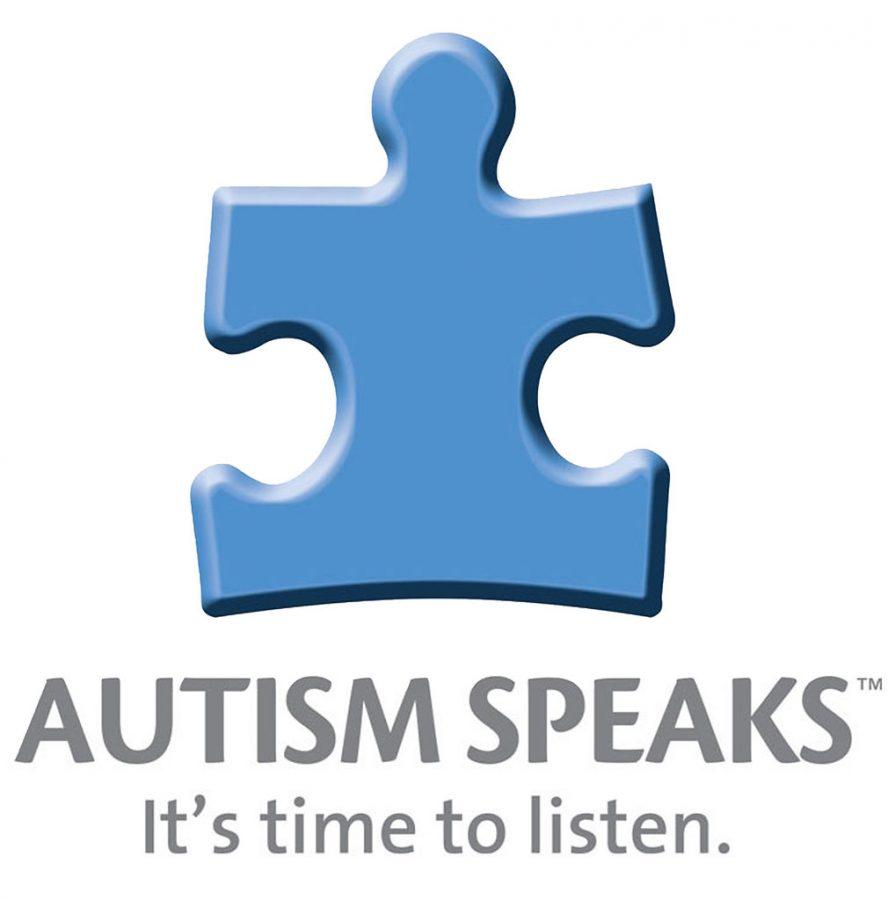 The logo of Autism Speaks, a blue puzzle piece