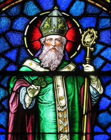 The patron saint and bishop of Ireland, Saint Patrick.