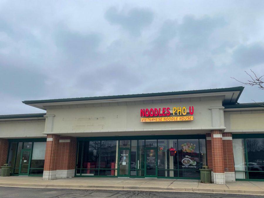 Storefront of Noodles Pho U