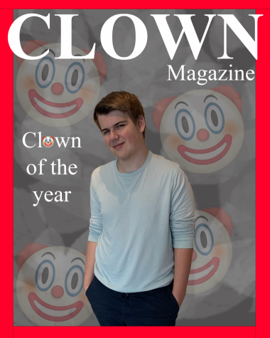 The front page of Clown Magazine, highlighting Peter Wujek as Clown of the Year.