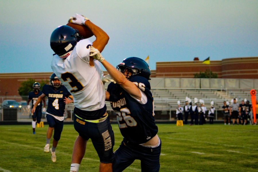 Carter Sessa had an amazing touchdown catch at the game.
