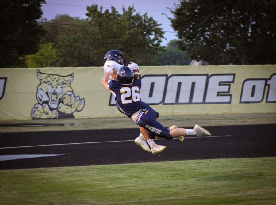 Carter Sessa looked like he was flying as he was tackled while trying to make a touchdown.