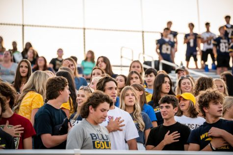 Students involved in Gold Rush kick off Neuquas fall activities and sports season with their support.