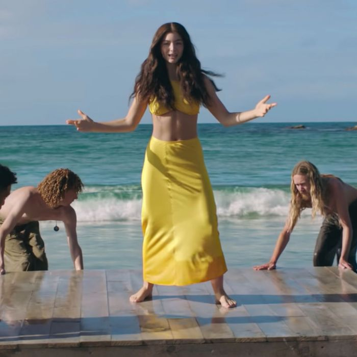 """A scene of Lorde's """"Solar Power"""" music video released on June 10, 20201"""