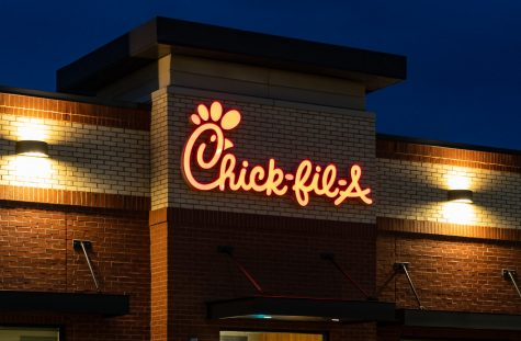 A picture of a Chick-Fil-A chain, famous for good chicken and homophobic donations