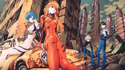 "From left to right: Rei Ayanami, Asuka Langley-Soryu, Kaworu Nagisa and Shinji Ikari, the main characters of ""Evangelion."""