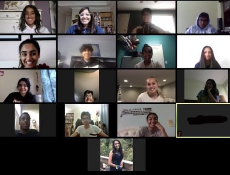 A picture of a Zooming Tutors meeting, taken by the Chief Relations Officer, Sharanya Duvvur